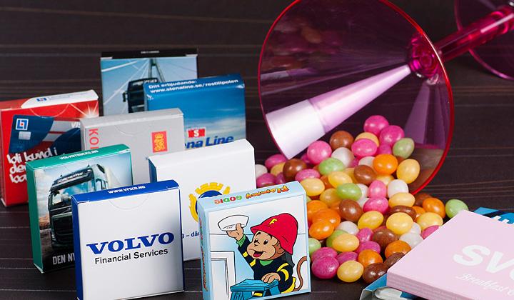 Tablettaskar med tryck & Godispåsar