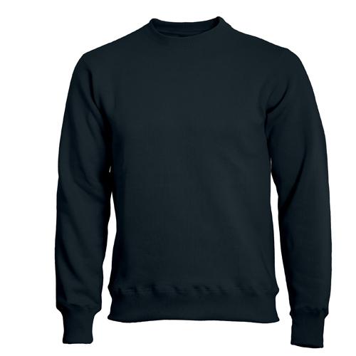 Rocker Sweatshirt med rundhals svart