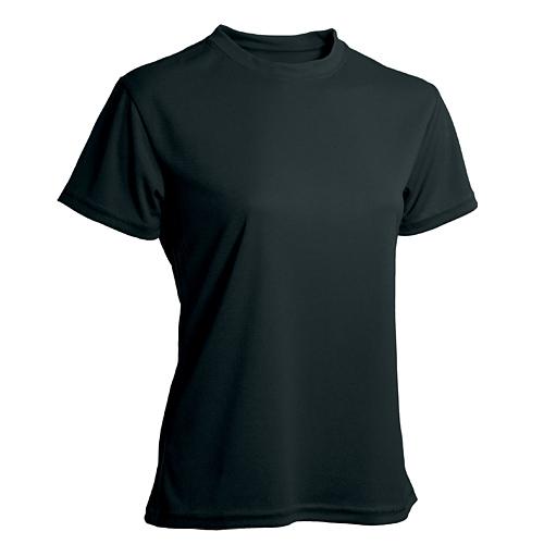 T-shirt funktionsmaterial dam svart
