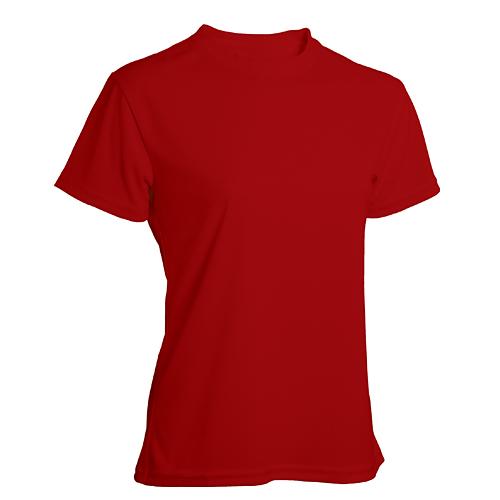 T-shirt funktionsmaterial dam röd