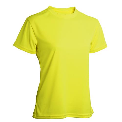 T-shirt funktionsmaterial dam gul