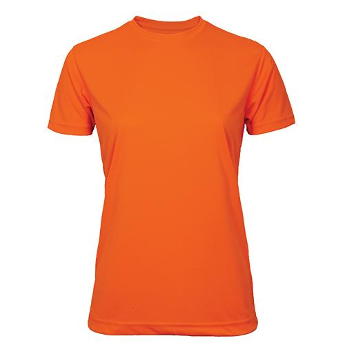 T-shirt funktionsmaterial dam orange