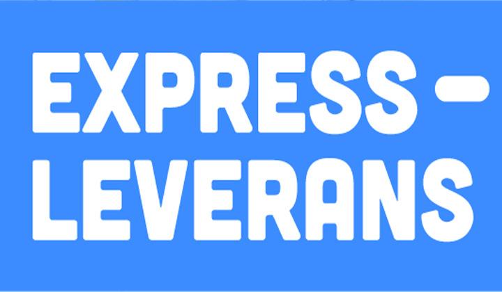 Expressgodis lev.tid 5-10 arbetsdagar